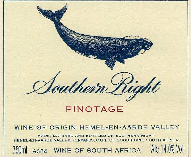 24. Southern Right Pinotage 2015 Label